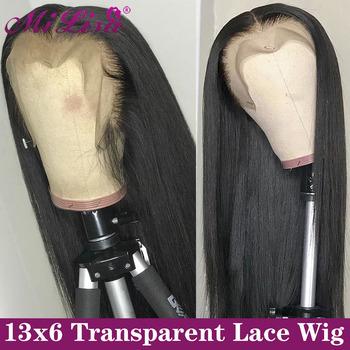 13 #215 6 prosto koronki przodu włosów ludzkich peruk dla czarnych kobiet Remy Mi Lisa brazylijski peruki proste włosy ludzkie 13 #215 4 peruki typu Lace Front tanie i dobre opinie Długi Lace Front wigs Remy włosy Ludzki włos Pół maszyny wykonane i pół ręcznie wiązanej Ciemniejszy kolor tylko
