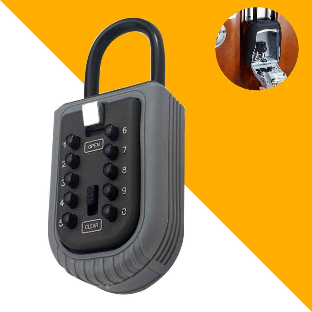 10 Digit Combination Zinc Alloy Password Safe Home Garage Waterproof Padlock Key Lock Box For Realtor Real Estate Indoor Outdoor