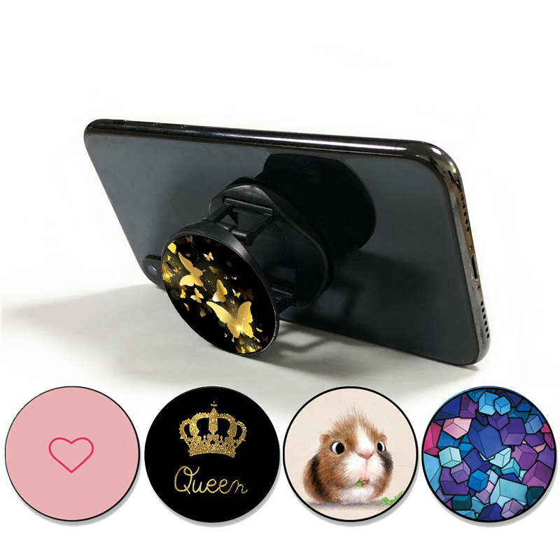 New Patterns Foldable Finger Ring Holder Phone Holder Stand For Smartphones Universal Bracket