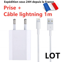 Cable Usb Chargeur Prise For Iphone 6s/7/8/xs Max/xr/11/pro - Chargeur Secteur Usb