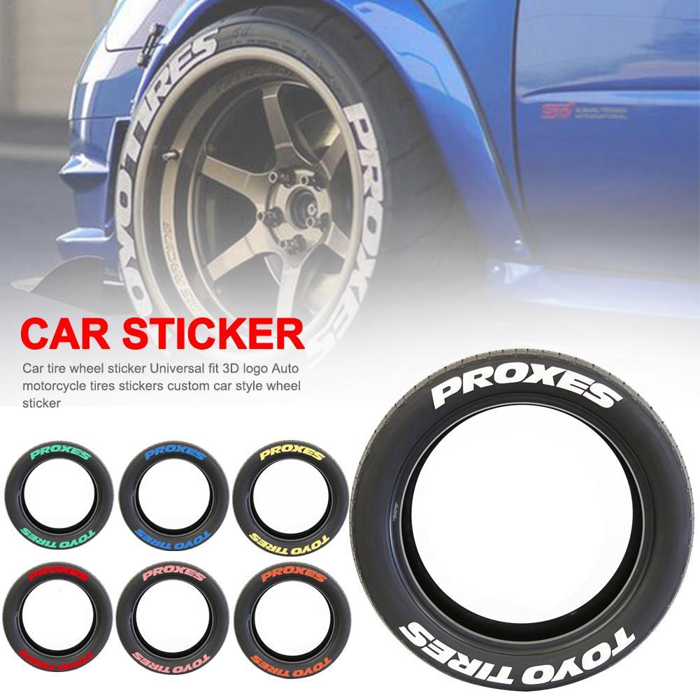 Letras de goma Etiqueta de neumático Etiqueta de rueda de coche ajuste Universal 3D Logo Auto motocicleta neumáticos pegatinas ruedas etiqueta DIY estilo