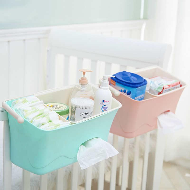 Cama colgante caja de almacenamiento pañal de bebé organizador de pañales organizador de cuna juguete recién nacido bolsa de almacenamiento de botella de alimentación para juego de cama de cuna