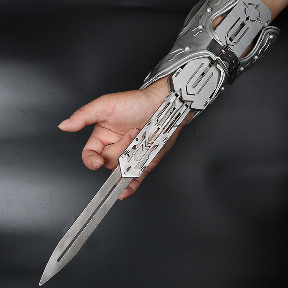 NEW Metal Blade Hidden Blade Sleeve Sword Action Figure  Hidden Blade Edward  Weapons Sleeves Swords Can The Ejection Toy