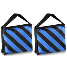 Hot 3C Set of Two Black/Blue Heavy Duty Sand Bag Photography Studio Video Stage Film Sandbag for Light Stands Boom Arms Tripods