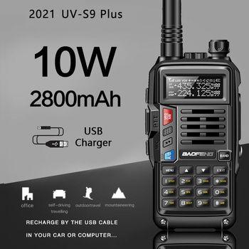 BaoFeng UV-S9 Plus puissant talkie-walkie CB émetteur-récepteur Radio 10W longue portée Portable pour la mise à niveau de la forêt de chasse