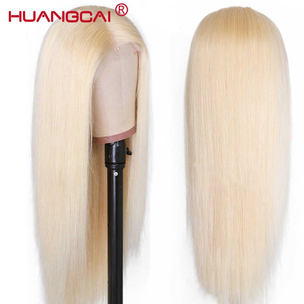 Środkowa część prosto 613 blond koronkowa część ludzkich włosów peruka wstępnie oskubane 150% brazylijski miód blond 13x1 koronkowe peruki Remy ludzki włos