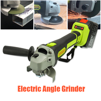 Electric Angle Grinder Cordless Large Capacity Battery Polisher Polishing Grinding Machine Wood Metal Cutting Tool Set 128V/228V