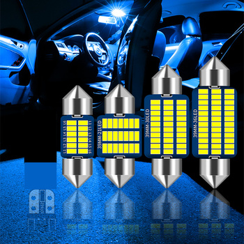 2x C5W LED CANBUS Festoon 36mm No Error 4014 SMD LED Reading Doom Lamp For Audi A4 B6 B8 A3 Q7 TT 8n For BMW E90 E60 E46 X5 image