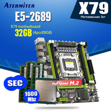 Atermiter X79 X79G scheda madre LGA2011 mini ATX combo E5 2689 CPU 4pcs x 8GB = 32GB DDR3 di RAM 1600Mhz PC3 12800R(China)