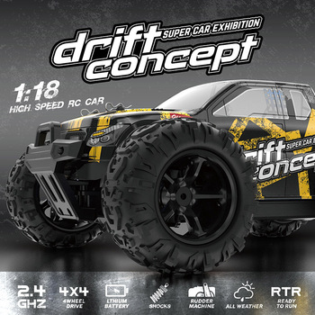 1:18 4WD RC Car Radio Control 2.4G High Speed Truck Off-Road Truck Toys Car Remote Control Drift Driving Car Gift Toys For Kids 1