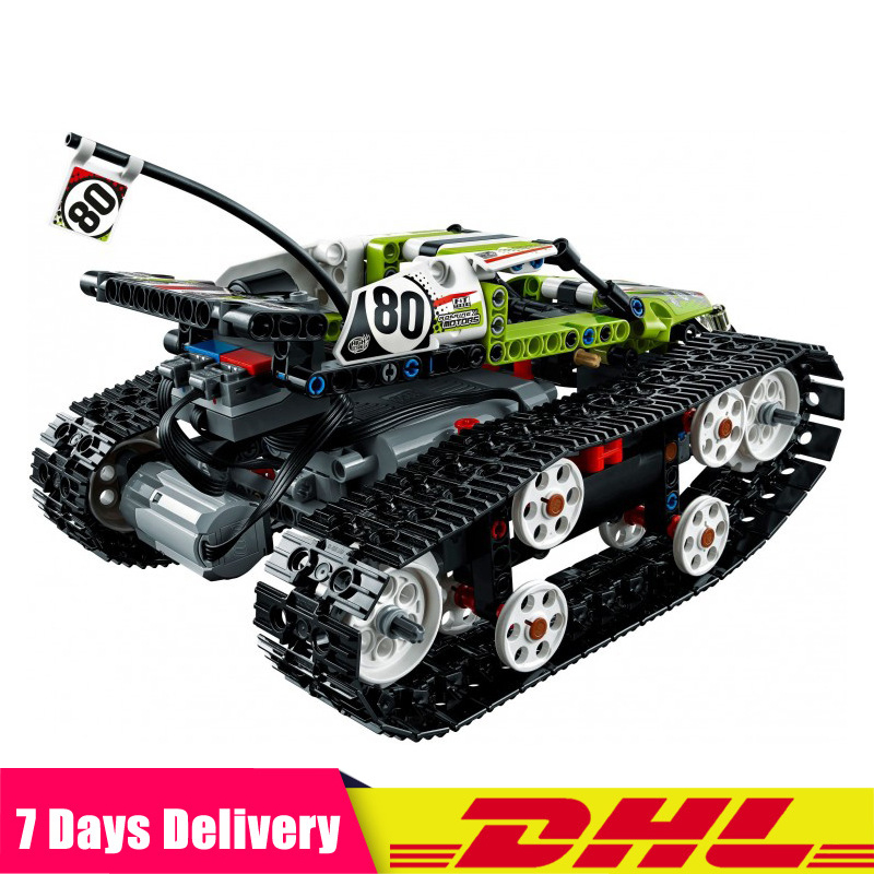 IN Stock 452Pcs Technic RC Tracked Racer Radio Controlled Model Building Blocks Bricks Toys Compatible <font><b>LegoINGlys</b></font> 20033 <font><b>42065</b></font> image