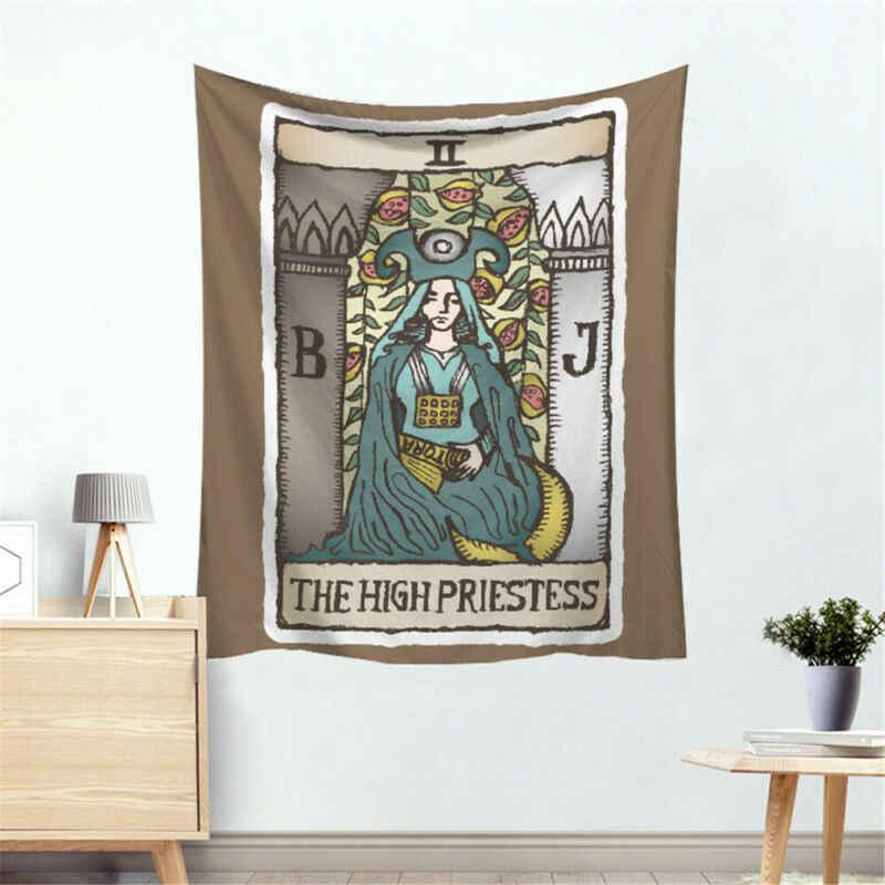 Tarot słońce i koc z księżycem Tarot Indian Mandala Tapestry Wall Hanging Bohemia Gypsy Home sypialnia dekorowanie rzuć