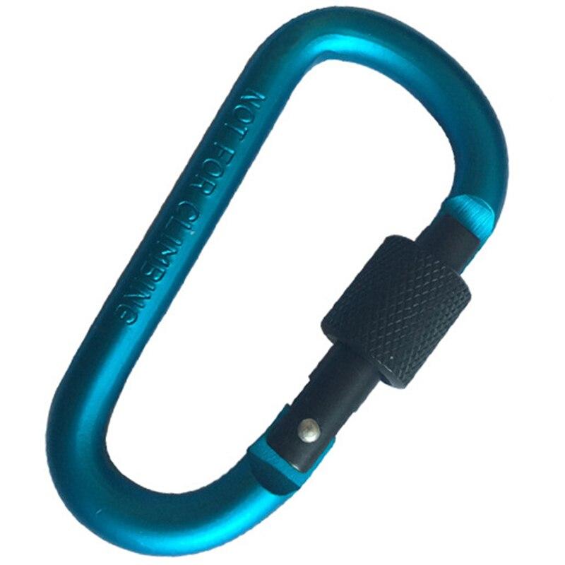 20Pcs 8Cm Aluminum Carabiner D-Ring Key Chain Clip Camping Keyring Snap Hook Outdoor Travel