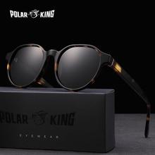 Polarking New Acetate Polarized Sunglasses Brand Vintage Style Men Sun Glasses Handmade For Male Uv400 Protection Shades