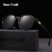 Polarking yeni asetat polarize güneş gözlüğü marka Vintage stil erkekler güneş gözlüğü el yapımı erkek Uv400 koruma tonları
