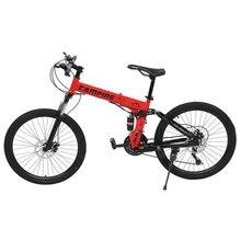 26 inç 21 hız katlanır dağ bisikleti çift disk fren sistemi yol bisikleti bisiklet