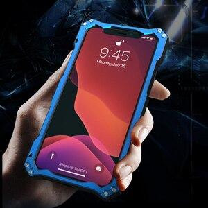 Image 2 - מתכת אלומיניום סגסוגת סיליקון שכבה כפולה מגן מקרה עבור iPhone 11 פרו כבד החובה טלפון מקרה עבור iPhone 11 פרו מקסימום כיסוי