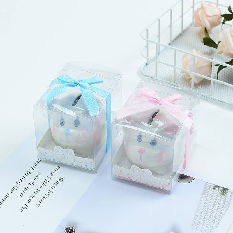 Rabbit Piggy Bank Ceramic Money Box Creative Birthday Gifts For Children Wedding Favors Free Shipping WB777