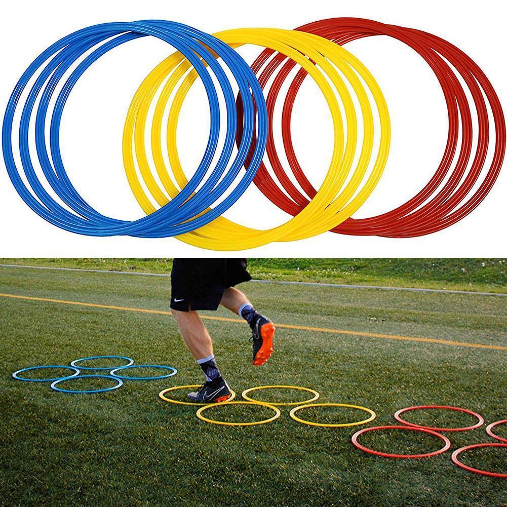 12pcs Football Training Ring Multi Color Soccer Sport Agility Training Football Soccer Speed Rings Equipment Training