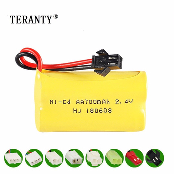 Upgrade 2.4v 700mah NiCD Battery For Rc Toys Cars Tanks Trucks Robots Guns Boats AA Ni-CD 2.4v Rechargeable Battery Pack 1pcs image