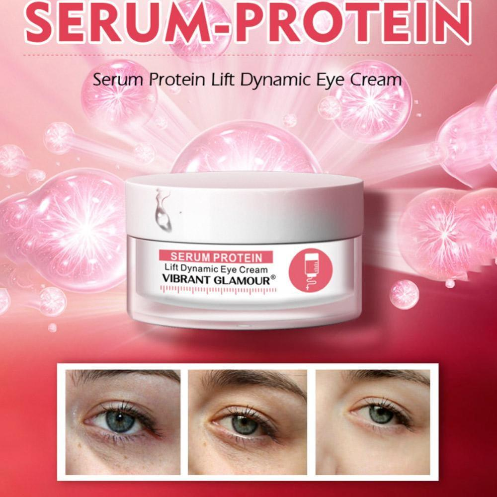 VIBRANT GLAMOUR Serum Protein Eye Cream Lifting Firming Skin Wrinkle Remover Dark Circles Against Puffiness Eye Care