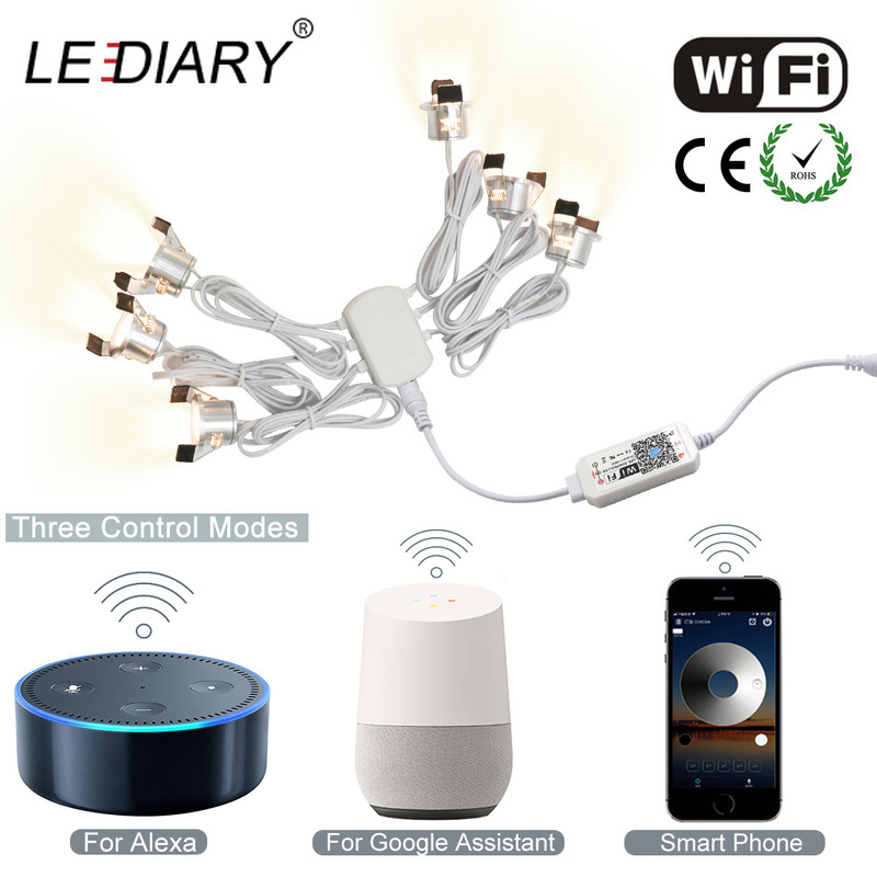 LEDIARY WiFi Smart Controller Dimmable Downlights Multi Function APP Control Timer Mode Voice Control Light Fixture CE ROHS