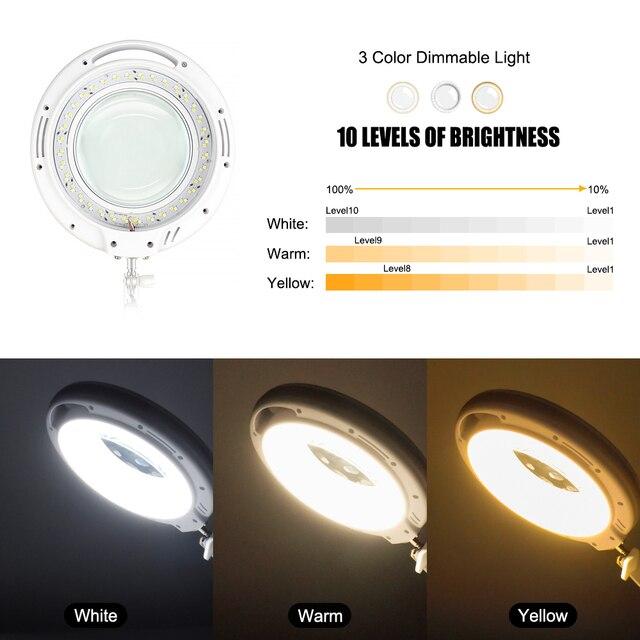 Newacalox 5x увеличительное стекло с 3 цветами светодиодный