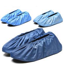 Waterdichte Schoen Covers Herbruikbare Elastische Antislip Boot Covers Woningen Gasten Beschermende Schoenen Covers Solid Blue Dikke Overschoenen