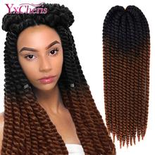 Havana Mambo Twist Hair Crochet Braids 22 #8221 120g 20 Color Ombre Synthetic Crochet Hair Braiding Hair YxCheris Purple cheap YXCHERISHAIR Low Temperature Fiber 12strands pack Piano Color 22inches