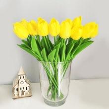 10 sztuk sztuczne tulipany kwiaty dekoracja do przydomowego ogrodu prawdziwy w dotyku kwiat bukiet urodziny dekoracja na przyjęcie ślubne sztuczny kwiat