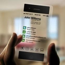 1000 pièces imprimer PVC clair cartes d'identité Transparent en plastique rond carte de visite conception appelant cartes imperméables impression personnalisée 85*54mm