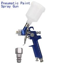 0.8mm/1.0mm Nozzle H-2000 Professional HVLP Mini Paint Spray Gun Airbrush For Painting Car Aerograph Pneumatic Gun