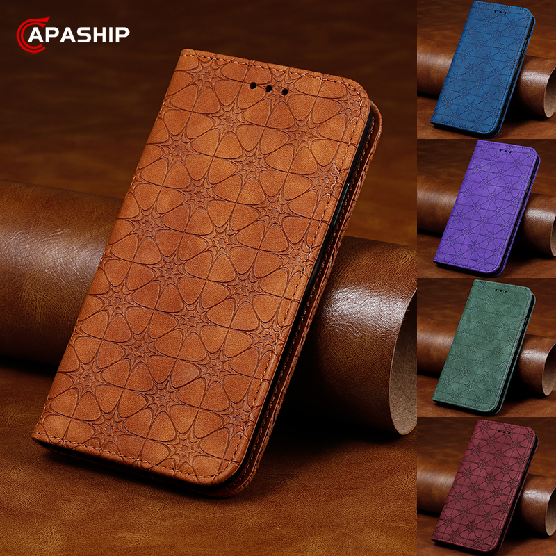 Luxury Vintage Leather Flip Case For iphone 11 Pro Max XS XR Phone Cases For iphone SE 2020 7 8 Plus X Wallet Card Holder Cover image
