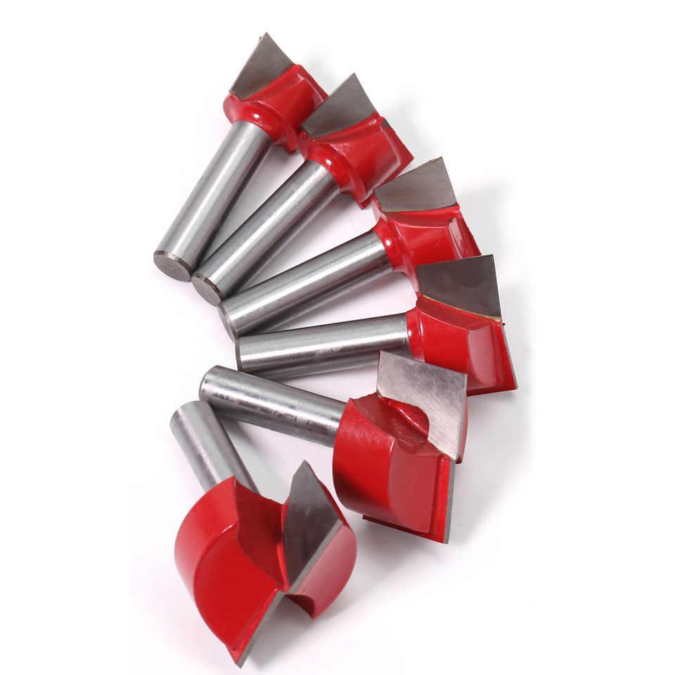 למעלה איכות 1pc 8mm Shank ניקוי תחתון עץ נתב Bit טונגסטן קרביד חריטת סכין נגרות כלים סוף כרסום חותך
