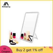 Espelho de maquiagem led touch screen vaidade luzes 180 graus rotação mesa bancada cosméticos espelho do banheiro