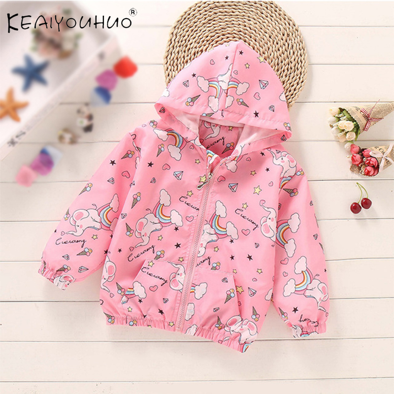 Childrens Jacket Baby Clothes Cartoon Jacket Hoodies Top Zipper Windbreaker For A Girl Winter Coat For Suit 2 3 4 5 6 7 8 Age