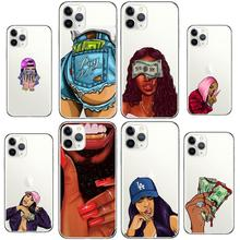Make Money Black Head girl Phone Case for iPhone