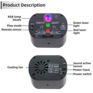 Image 4 - 60 מצבי LED דיסקו אור USB נטענת RGB לייזר הקרנת מנורת אלחוטי בקר אפקט במה אורות המפלגה DJ KTV כדור