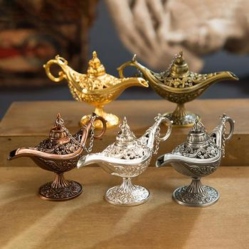 Aladdin Magic Lamp Metal Crafts Wishing Lamp Aromatherapy Stove Home Creative Decoration Gifts image