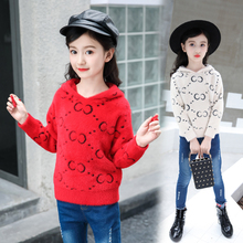 Kids Fitted  Top Boys Girls Sweater Children Clothes Girl Clothing Knitted Pullover Sweaters for 6-15Year 3187