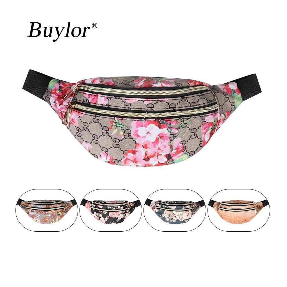 Buylor Belt Bag For Women Designer Fanny Pack Fashion PU Leather Waist Bag Shoulder Crossbody Bag Waist Packs For Party, Date