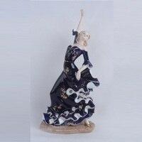 Sales Porcelain Lady Flamingo Dancer Statue Flamenco Figure Figurine Ceramic Art&Craft Living Room Decor L3201