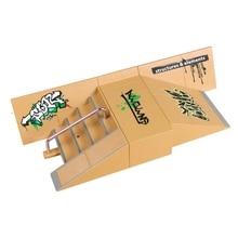Мини Мода палец скейт парк рампы наборы дождь скейтборд пальцы обучение Реквизит игры дети Крытый Экстремальный набор спортивных игрушек