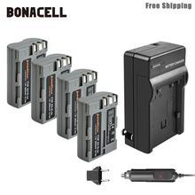 Bonacell 2600mAh EN-EL3e EN EL3e EL3a ENEL3e Battery+Battery Charger for Nikon D300S D300 D100 D200 D700 D70S D80 D90 D50 L50 цена и фото
