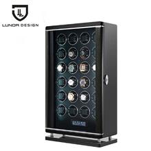 Automatyczne luksusowe 24 gniazda pokrętło zegarka akcesoria do pudełek zegarek wyświetlacz mechaniczny obrotowy zegarek Uhrenbeweger dla mężczyzn zegarek tanie tanio NoEnName_Null CN (pochodzenie) Pudełka do zegarków Moda casual 5205 Plac 59inch 21inch Drewna 35inch Mieszane materiały