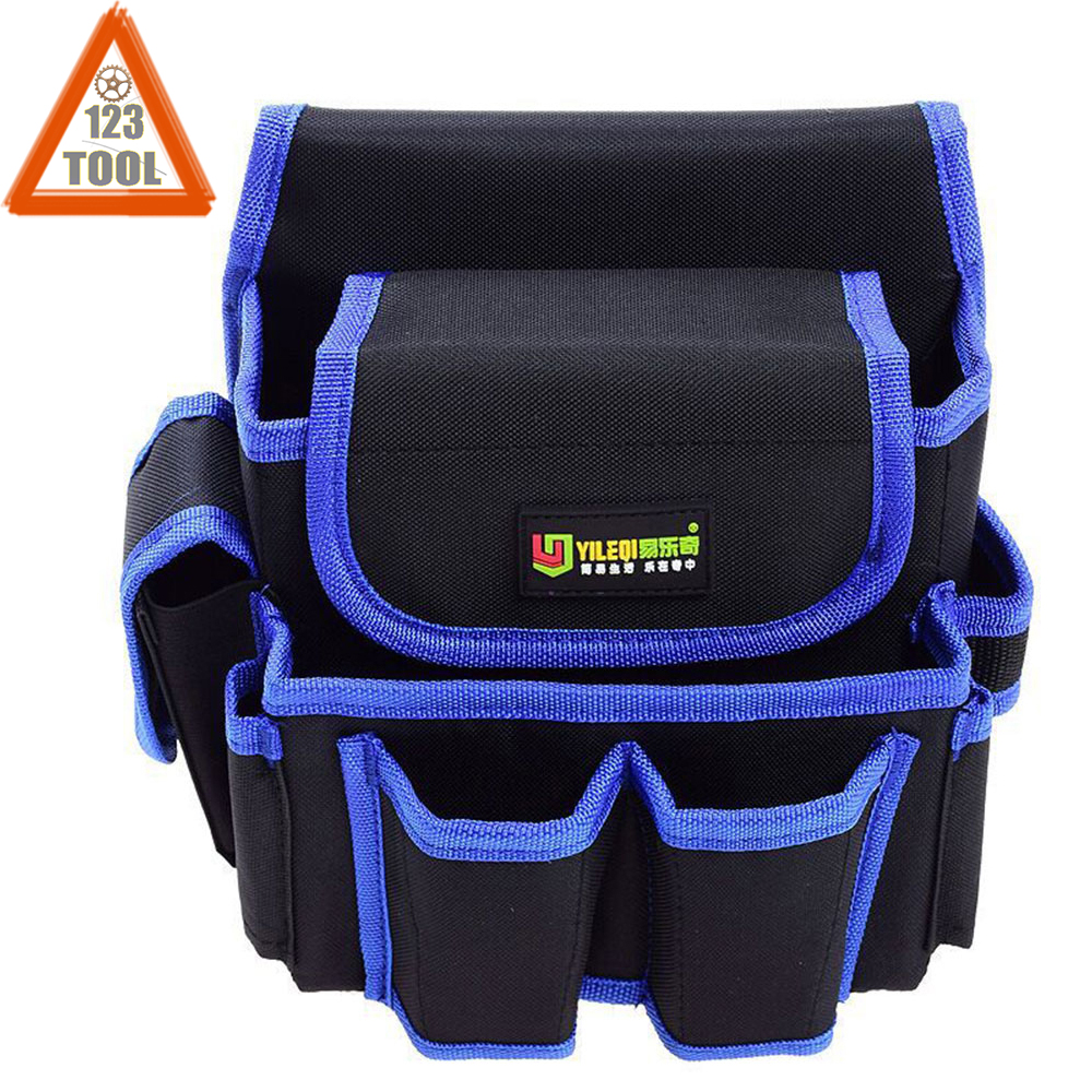 Heavy Duty Tool Pouch With Adjustable Belt Electrician Waist Tool Bag Multifunction Belt Tool Pouch Electrician Tool Waist Bag