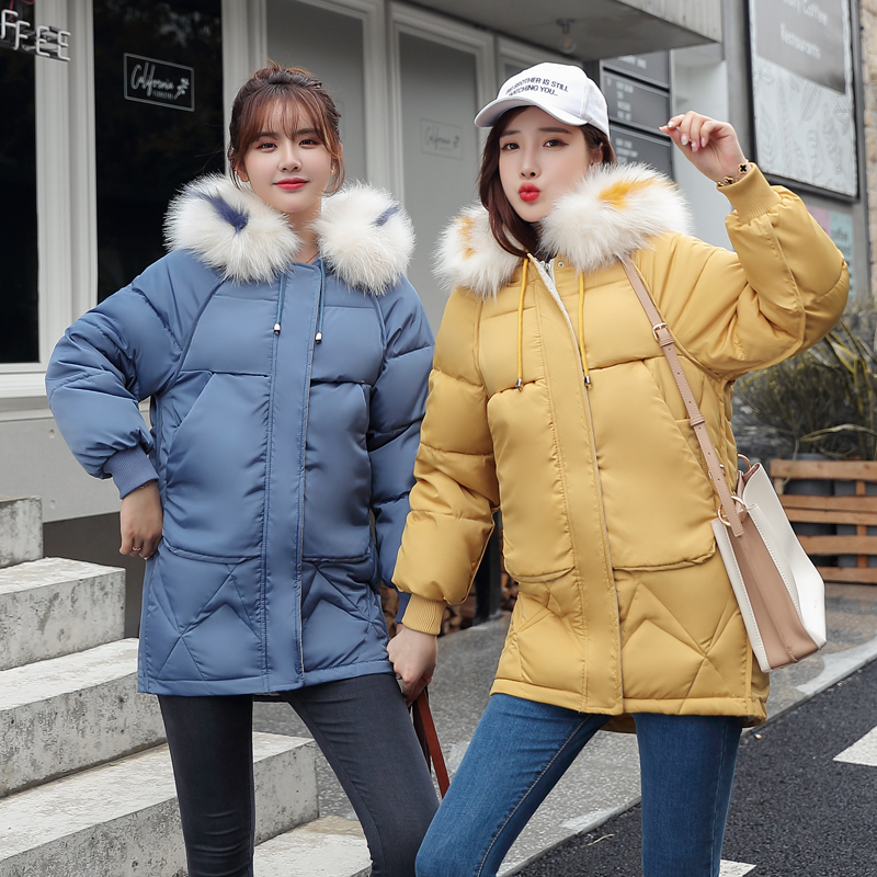 Korean winter jacket 2019 with 6 colors, thick skin collar and children's   Parka   warm coat