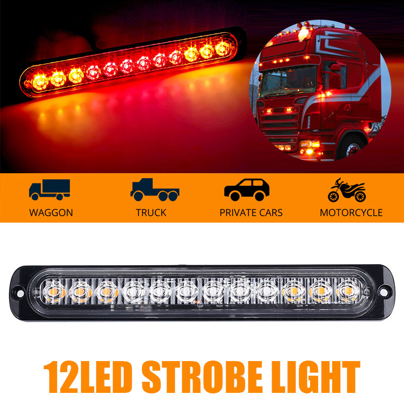 Vehemo Truck Led 24v Trailer Lights Trailerlight Marker Side Warning Warn Signal Lights Ambe Red Strobe Light Truck Accessories