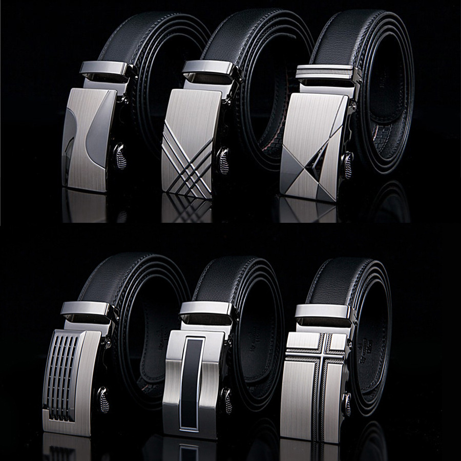 Famous Brand Belt New Male Designer Automatic Buckle Cowhide Leather Men Belt 110cm-130cm Luxury Belts For Men Ceinture Homme