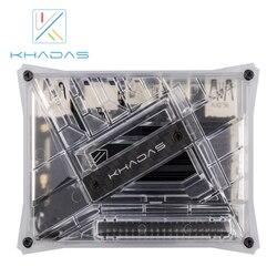 Khadas VIM3L Kit de htpc: Amlogic S905D3-N0N SBC DIY caso